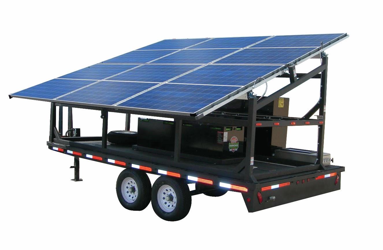 Generator Solar Mobil - Remorca Solara