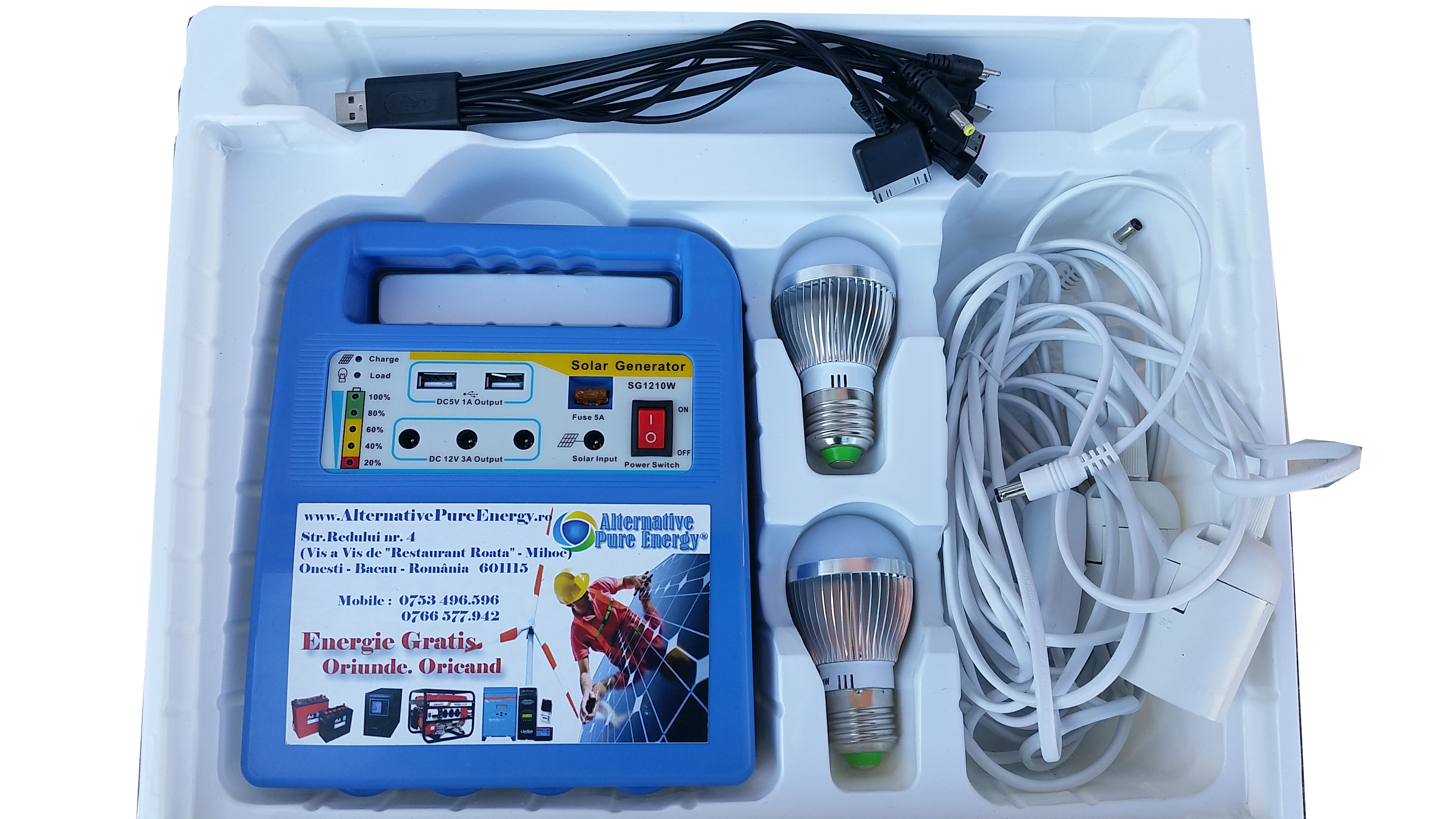 Kit Solar Generator Mobil Camping 1210W - Alternative Pure Energy