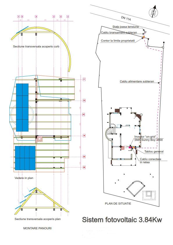 15 Sistem Fotovoltaic On-Grid cu Livrare in Retea