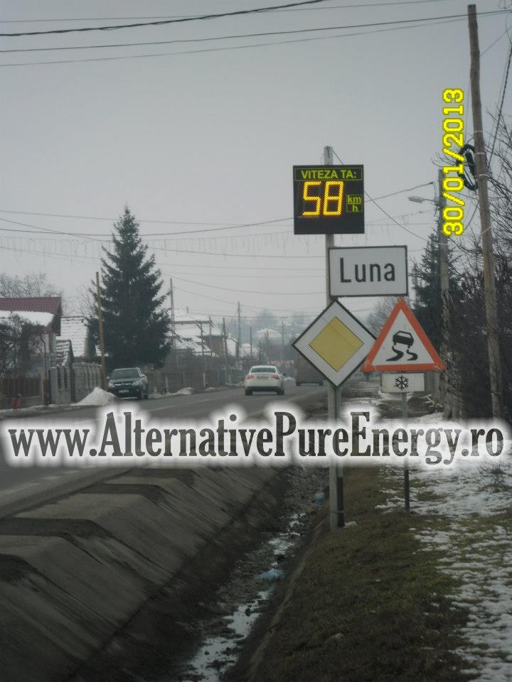 Indicator Rutier Intrare Localitate Radar 7 www.AlternativePureEnergy.ro
