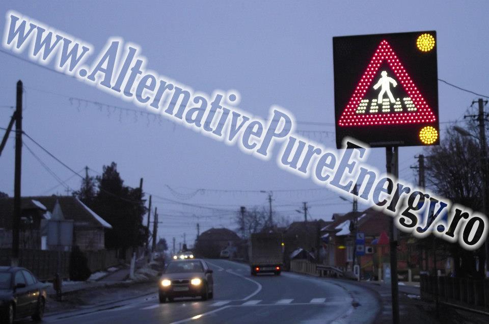 Indicator Rutier Trecere Pietoni LED 1 www.AlternativePureEnergy.ro