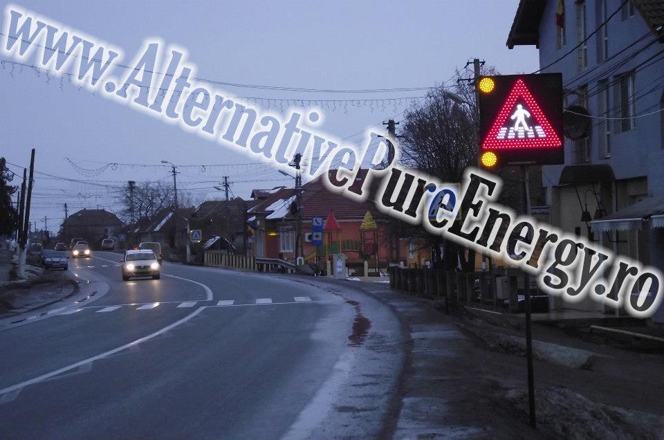 Indicator Rutier Trecere Pietoni LED 2 www.AlternativePureEnergy.ro