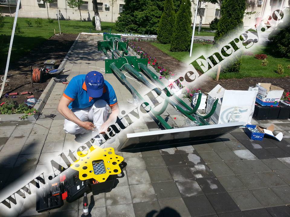 Instalare Stalpi Solari Iluminat Stradal la un crematoriu uman, poza 1 din 10