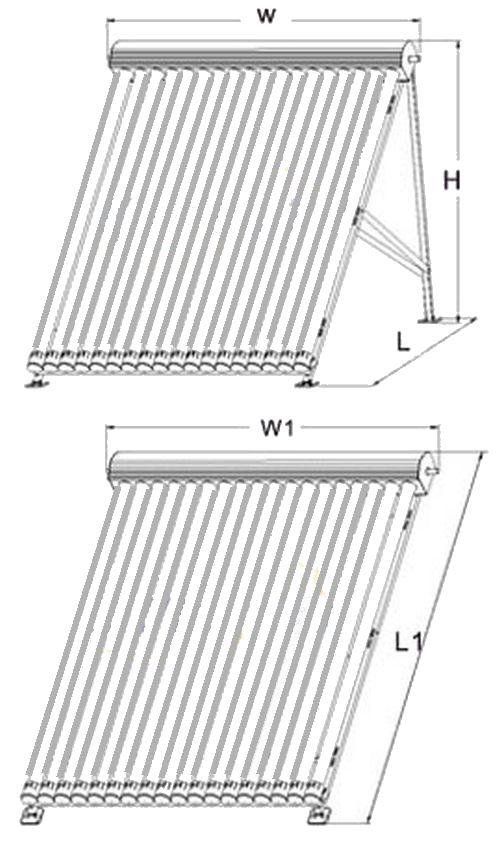 schema colector solar